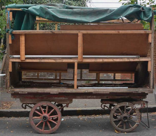 An unrestored barrow was there to show what had been achieved