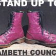 Poster for Stand up to Lambeth Council demo