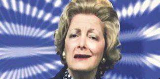 Actor as Margaret Thatcher
