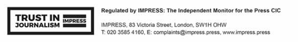 Impress logo with address details