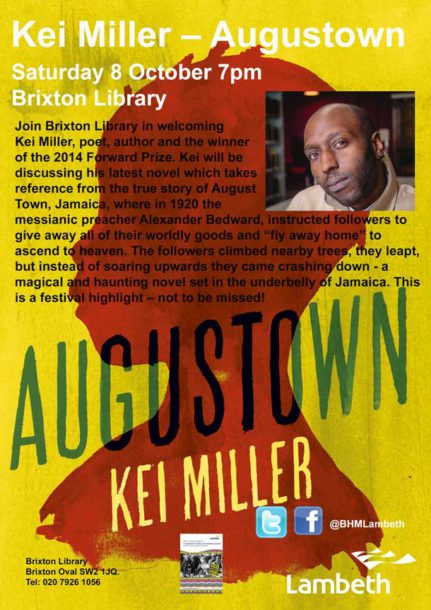 Kei Miller author of Augustown