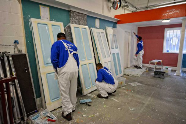 Bounce Back painting and decorating training in Brixton prison