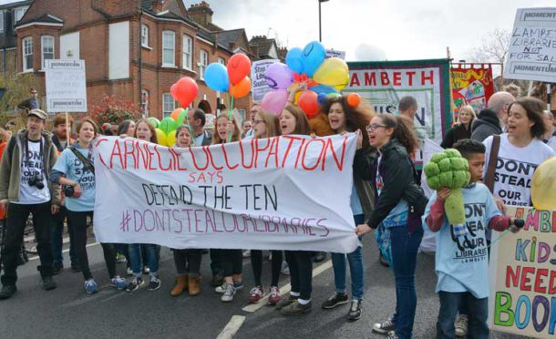 Closure of the Carnegie library was greeted by an occupation and one of the largest demonstrations seen in Lambeth in recent years