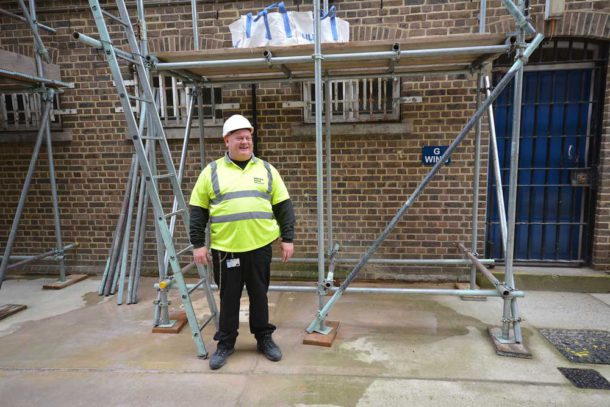 """Mark """"Scaff"""" Harris – when he first saw the advert for his job, he thoughtit was a joke"""