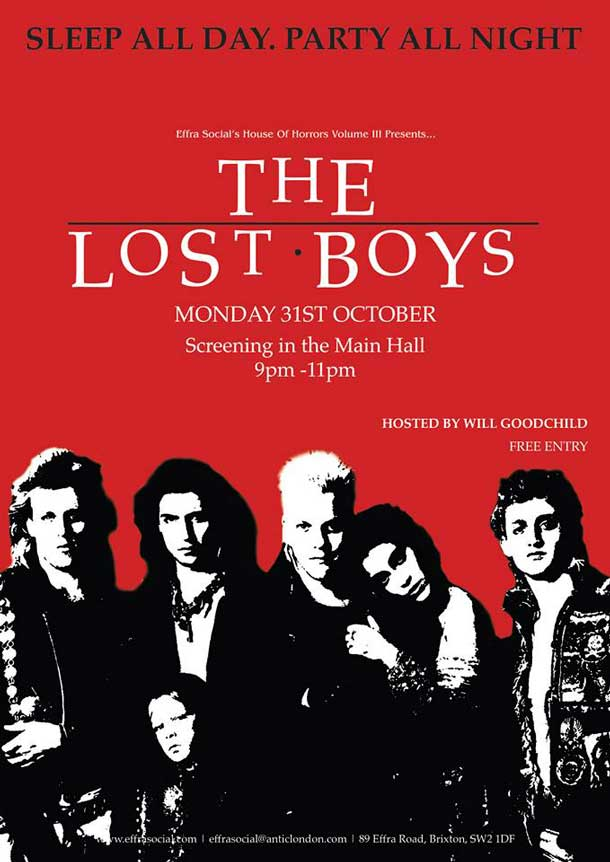effra social showing the lost boys tonight brixton blog