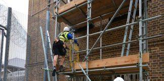 Scaffolding training in Brixton Prison