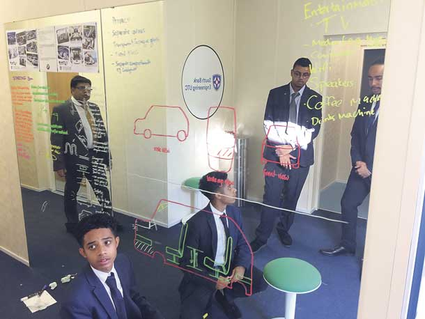 Pupils at University Technical college on Brixton Hill