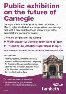 Carnegie exhibition flyer