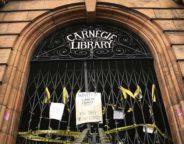 Carnegie library door