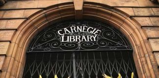 Carnegie library door