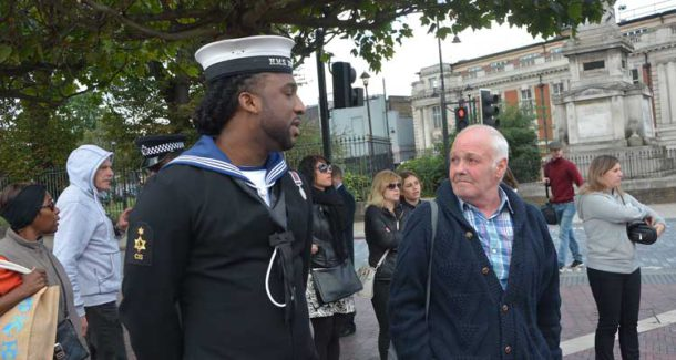 Royal Navy – past and present met in Windrush Square