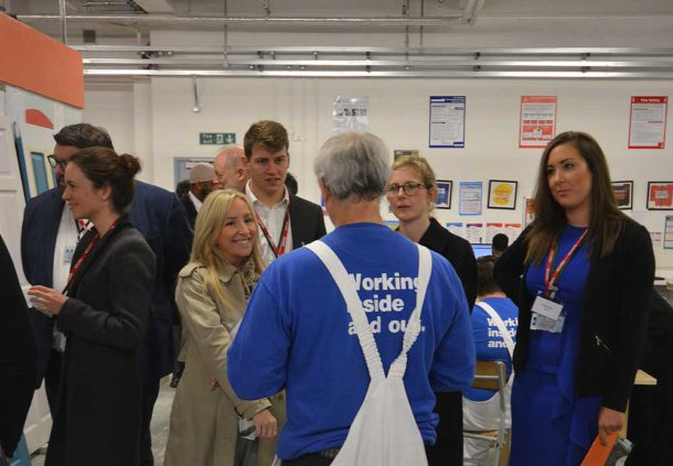 Visitors at the launch discussed the painting and decorating course with prisoner trainees