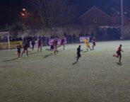 Frosty pitch on a freezing night at Champion Hill