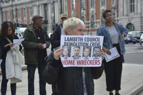 Protest against Lambeth council