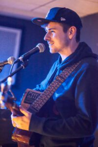 Luke Carey performs upstairs at the Ritzy