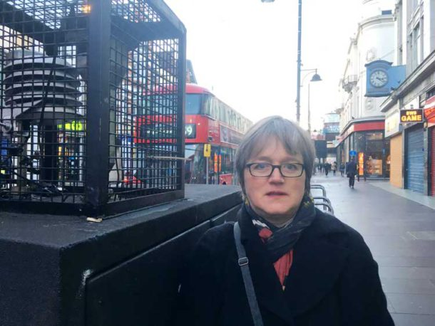 London Assembly Green Party member Caroline Russell visited the Brixton Road monitoring point