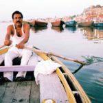 Man rowing in Varanasi