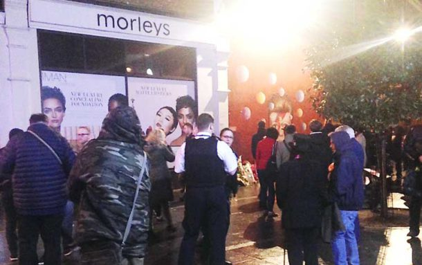 Police are called to an incident in the early hours next to the Bowie mural in Tunstall Road