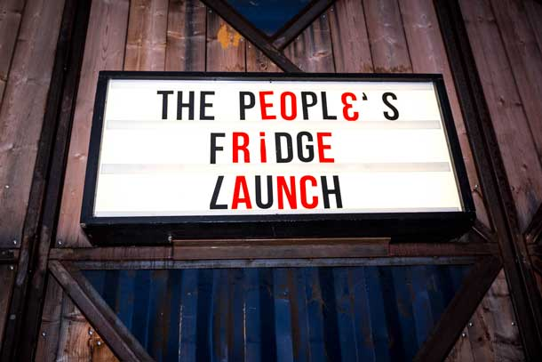 The People's Fridge Launch at Pop Brixton
