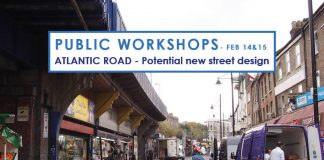 Public Workshop flyer for improvements to Atlantic Road
