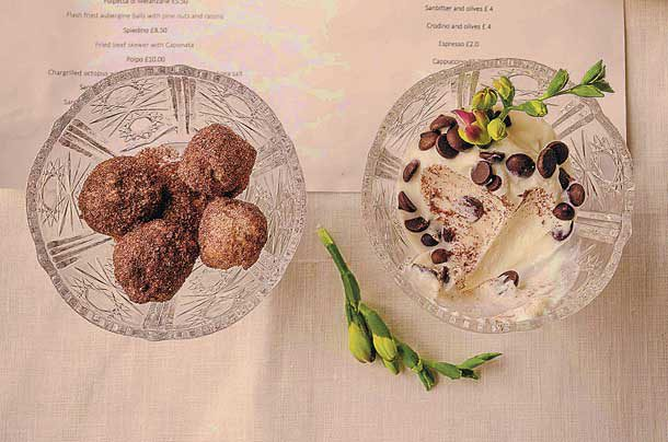 Franzina's Trattoria's Spingette balls