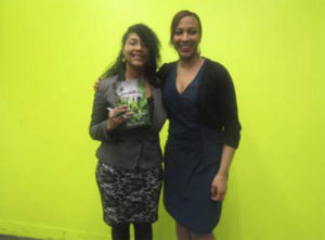 Micah with her publisher