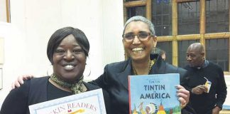 Ruskin Readers Tutor Rae Stoltenkamp (right) with Tracey Cameron