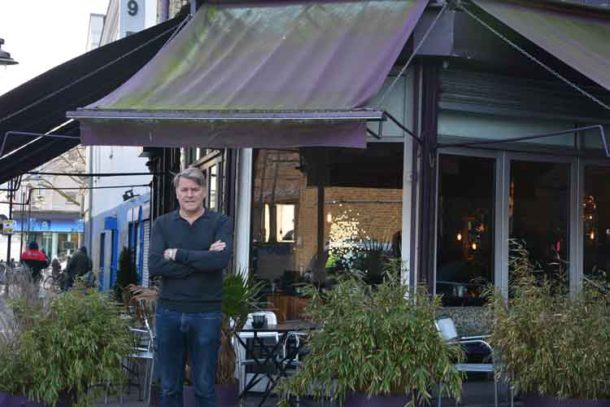 Alan Culverhouse outside SW9