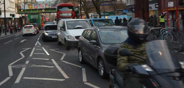 Traffic on Brixton Road