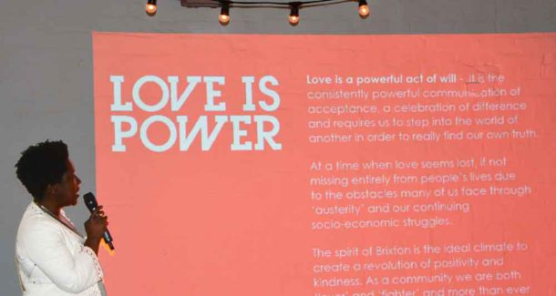 Binki Taylor explains the 'Love Is Power' theme for the 2017 Brixton Design Trail