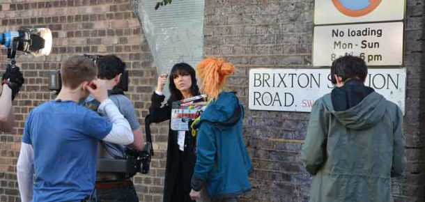 Imelda May Brixton music video: Getting ready to shoot a scene