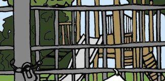 Illustration for closure of children's playground