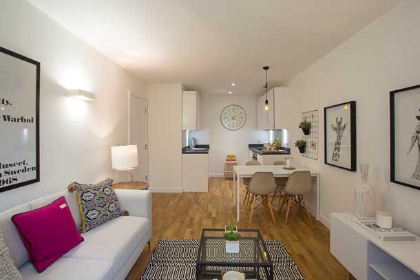 Interior of Wynne Road flat