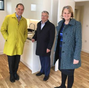 Pocket's CEO Marc Vlessing joined Lib Peck and Cllr Paul McGlone at Wynne Road