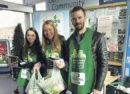 Jon Taylor (right) with foodbank helpers