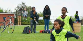 Young St Matthews Project footballer in Brockwell Park