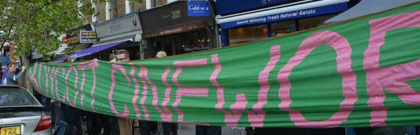 The big boycott banner