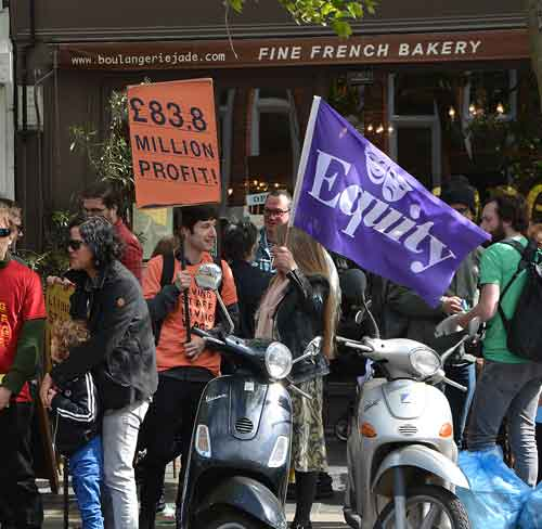 Solidarity from the actors' trade union Equity