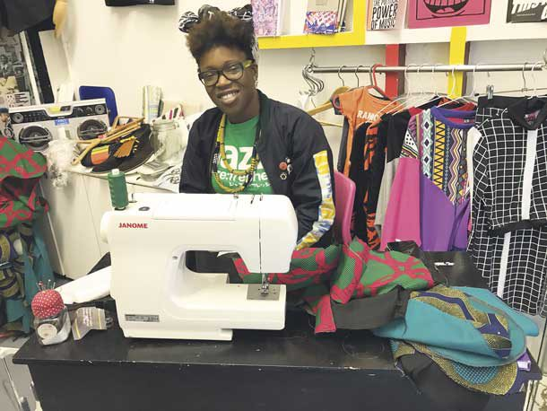 Samantha-Jane in her united80 shop in Brixton Village