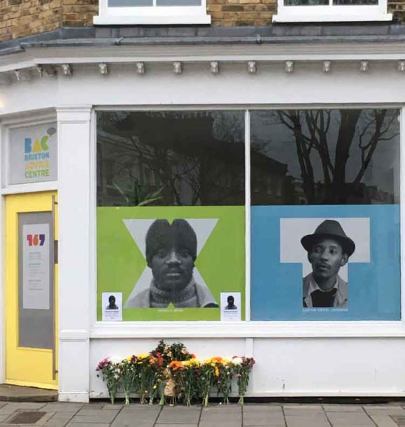Flowers for Darcus Howe at Brixton Advice Centre