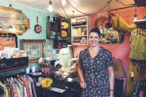Sarah Bennett of Make Do and Mend retro shop