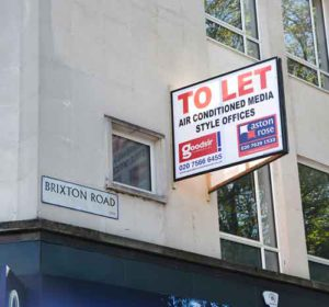 Office space to let sign