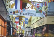 Brixton market interior