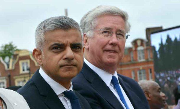 Sadiq Khan and Sir Michael Fallon