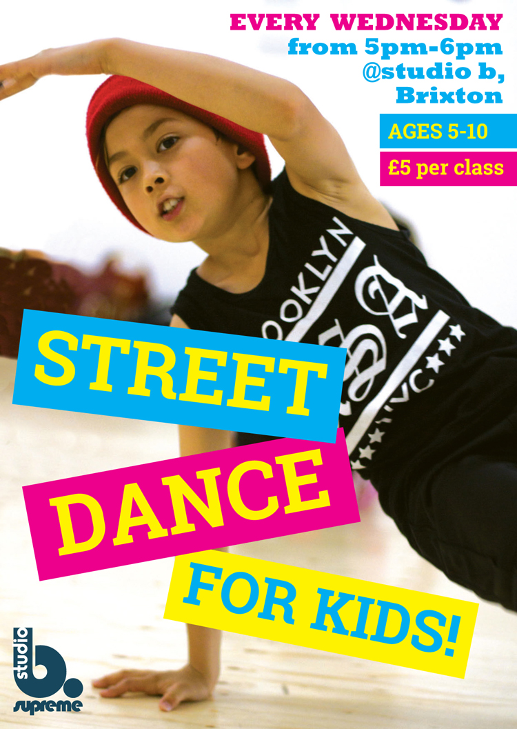 Street Dance for Kids flyer