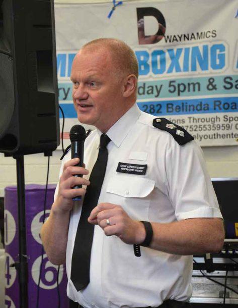 Lambeth borough commander Richard Wood who helped Pastor Jones set up Dwaynamics