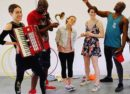 Sixteenfeet production rehearse Alice in Wonderland in Brixton Community Base