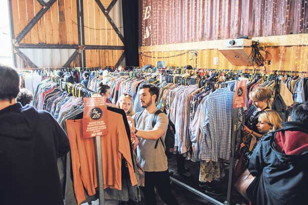 Kilo Sale of Vintage clothes at Pop Brixton