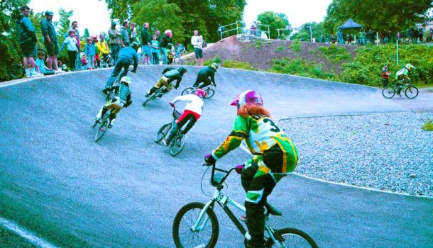 BMX racing in Brockwell Park, Brixton