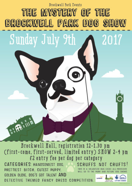 Poster for Rockwell Park Dog Show July 2017